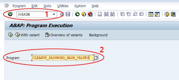 cleanup password hash value