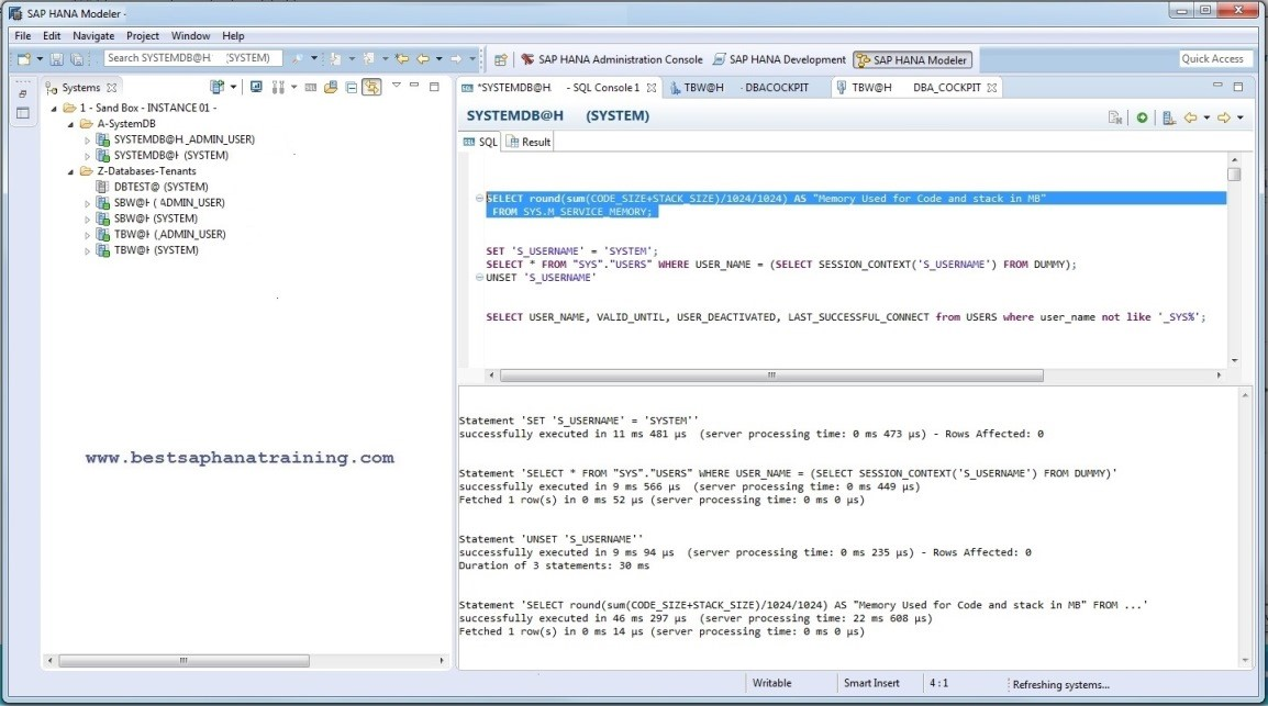 Journal Entry Testing in SAP HANA Studio