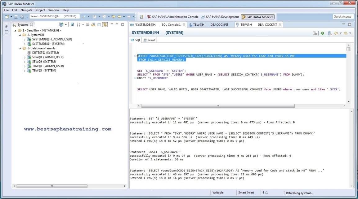 Journal Entry Testing mit dem SAP HANA Studio