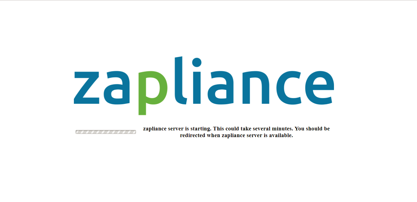 zapliance Server is booting up