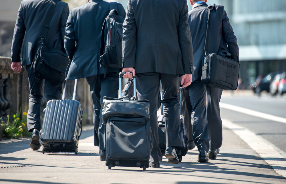 Business people preparing for next business trip